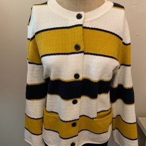 Ann Taylor Striped Thick Cardigan